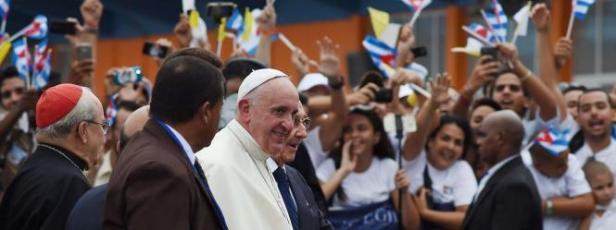 Papa Francesco è arrivato all'Avana