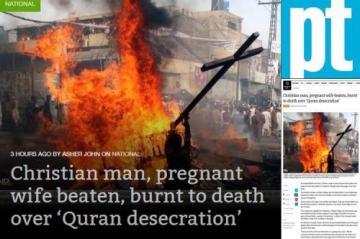 Pakistan, coppia di cristiani bruciati vivi