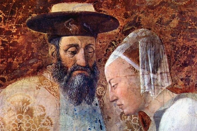 Incontro tra Salomone e la Regina di Saba, affresco di Piero della Francesca (particolare)