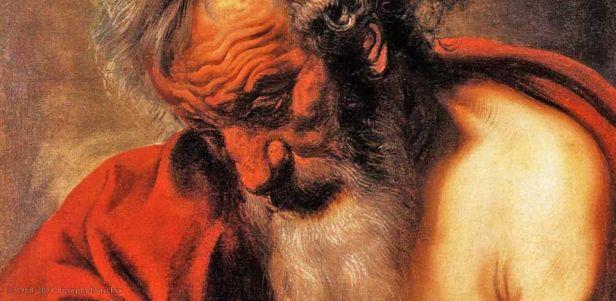 Jacob Jordaens, san Pietro (particolare), Alte Pinakothek, Monaco