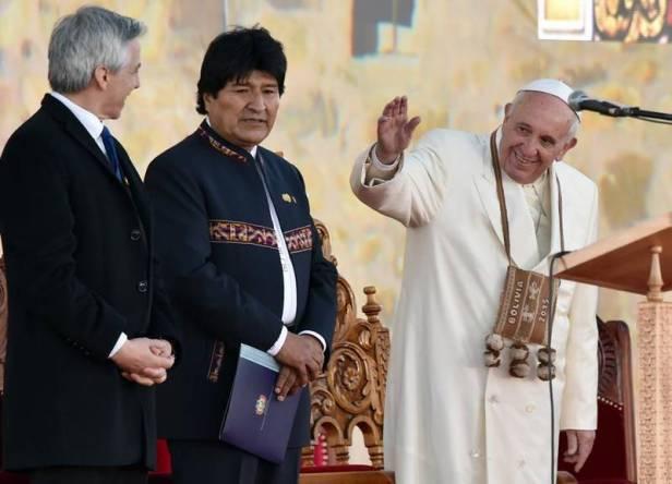 Il Papa in Bolivia.