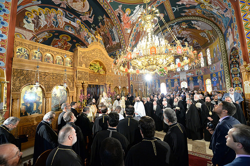 His Beatitude Patriarch Theodoros II of Alexandria presides over the Divine Liturgy at the Annunciation Church in Kissamos, Crete..jpg