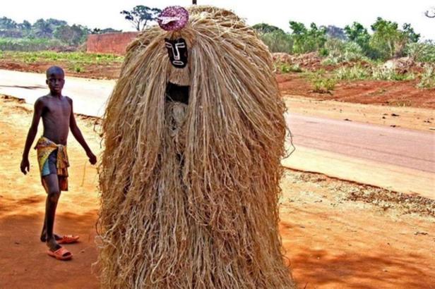 Una cerimonia della popolazione Fon, nel sud de Benin