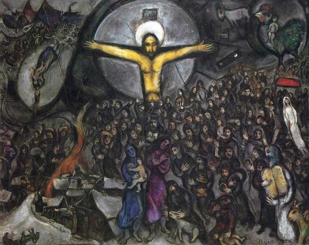  Marc Chagall, Exodus, 1952-1966, olio su tela,130×162 cm