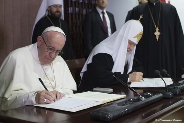 Dichiarazione comune dopo l'incontro tra Francesco e Kirill..jpg
